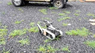 Military robot climbs and crawls
