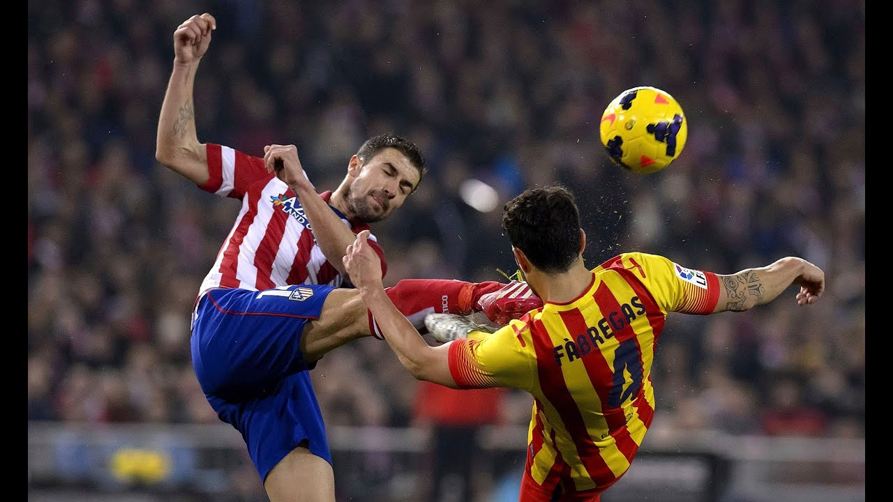 Barcelona Vs Atletico Madrid Fights Fouls Dives Red
