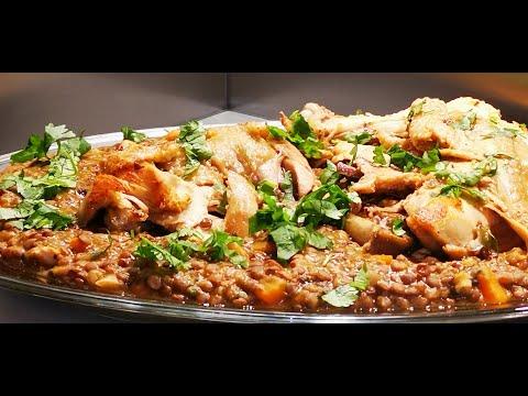 recette-de-lentilles-au-poulet---un-bon-plat-simple,-facile-et-rapide-à-faire,-vrai-délice-de-saison