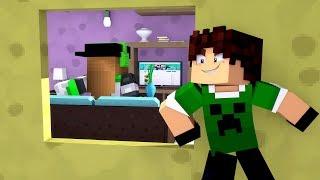 Minecraft Lendário #9: INVADI A CASA DA MALENA !! (VIDA REAL)