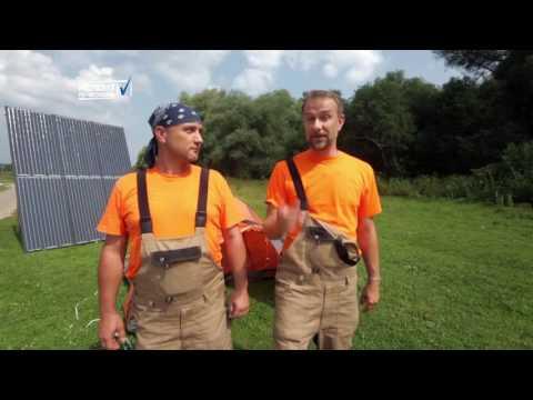 Тест солнечной электростанции и сравнение с бензогенератором , от телеканала REN TV