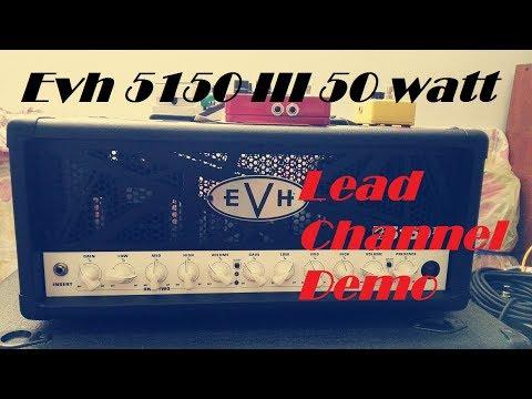 evh 5150 iii 50 watt lead channel demo youtube. Black Bedroom Furniture Sets. Home Design Ideas