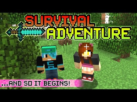 Survival Adventure EP1 with Chad Alan | Stealing from the Villagers | Underground Bunker!
