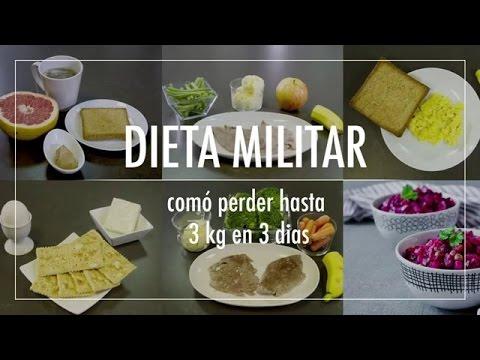 La Dieta Militar: Co?mo perder hasta 3 kilos en 3 di?as sin pasar hambre.