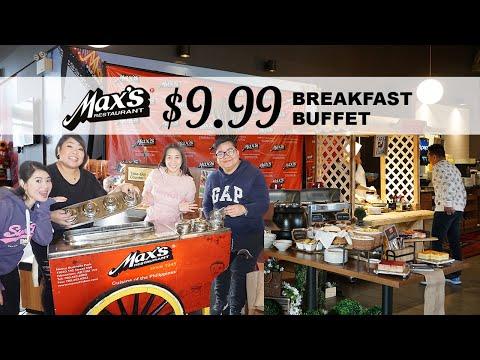 Filipino Breakfast Buffet In Max's Restaurant - Edmonton, AB Canada