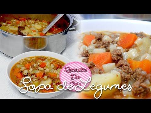 Sopa Fácil de Macarrão com Carne Moida e Legumes!