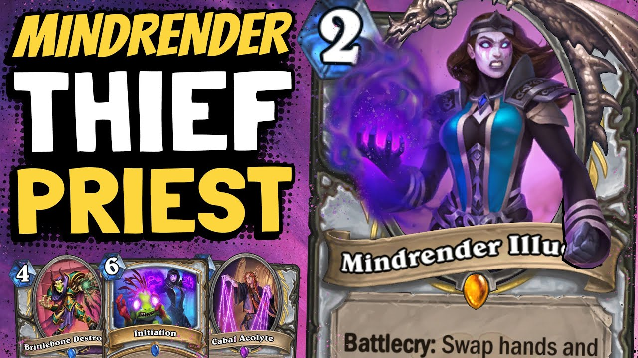 UNDEFEATED With The NEW Control Thief Priest | Scholomance Academy | Hearthstone thumbnail