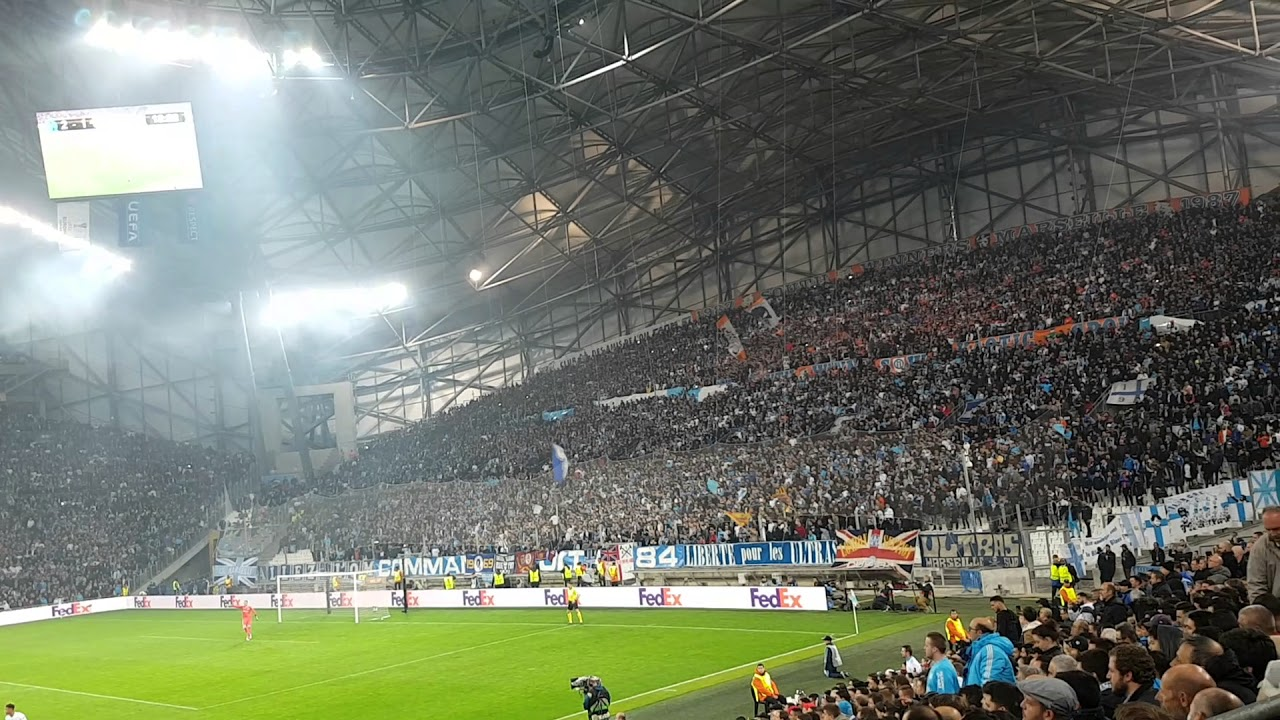 marseille fans  u201caux armes u201d vs leipzig europe league