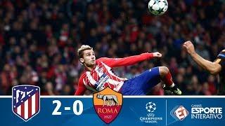 Melhores Momentos - Atlético de Madrid 2 x 0 Roma - Champions League (22/11/2017)