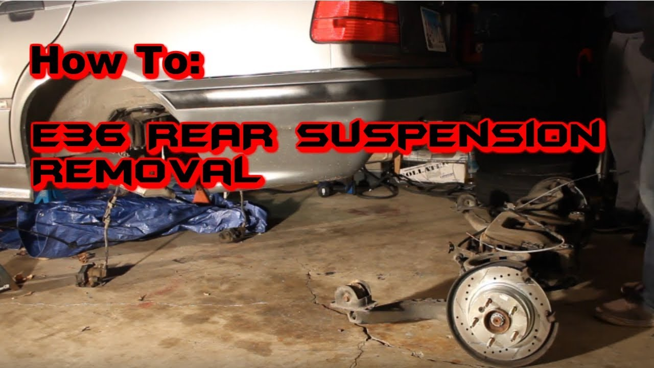 how to remove e36 rear subframe suspension youtube