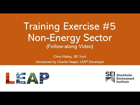 Training Exercise #5: Non-Energy Sector Emissions