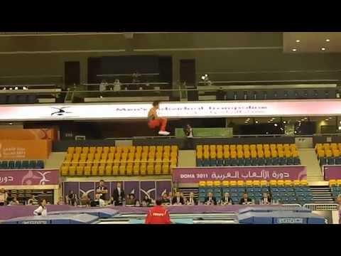 Seif Asser (2nd Routine) Egypt - Trampoline Arab Games 2011