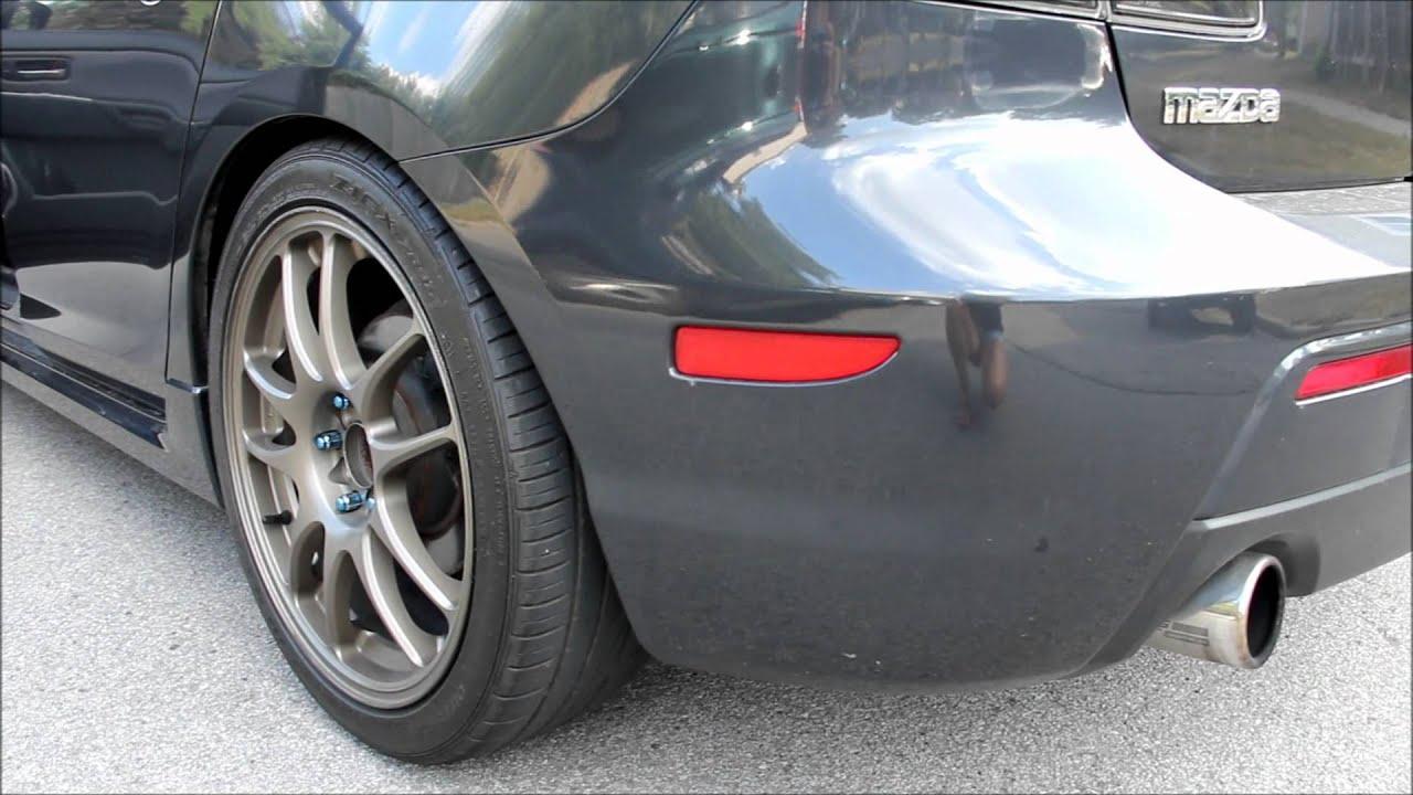 Mazda 3 Racing beat exhaust REVVING! - YouTube