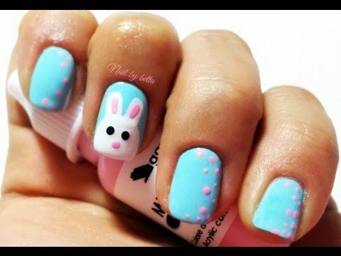 Cute bunny nail art - Cute Bunny Nail Art - YouTube
