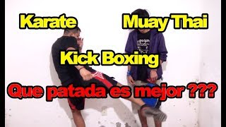 Muay Thai vs Karate vs Kick Boxing Diferencias entre cada patada baja ( Low Kick )