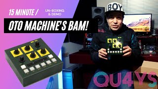 Unboxing and first use of the Oto Machines BAM Reverb unit.