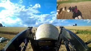 case ih 75c beim strohballen laden hd ernte 2017 loading straw bales
