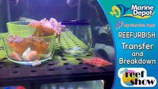 How to Breakdown and Transfer Tanks!  That Reefshow Segment, Reefurbish!