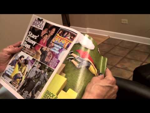 Hairstylist Reads US Weekly Magazine