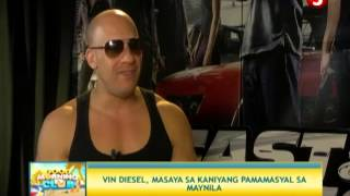 News5E | Grace Lee interviews Hollywood star Vin Diesel (May 15, 2013)