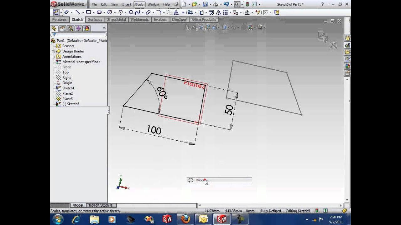 how to fix sketch in solidworks