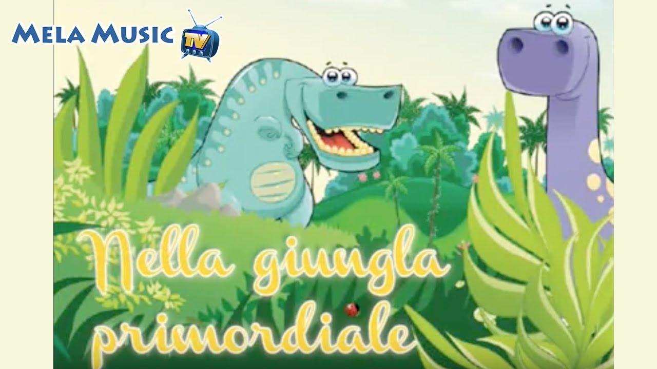 I dinosauri nella giungla primordiale canzoni per for Immagini giraffa per bambini