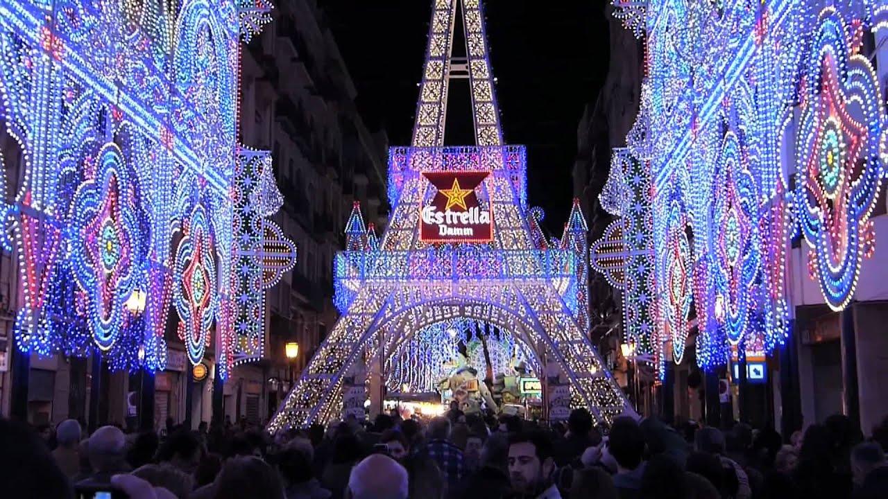 Fallas 2012 luces hd youtube - Iluminacion en valencia ...