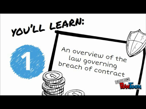 ACCA F4 - Business Law - Contract Law -Breach of contract