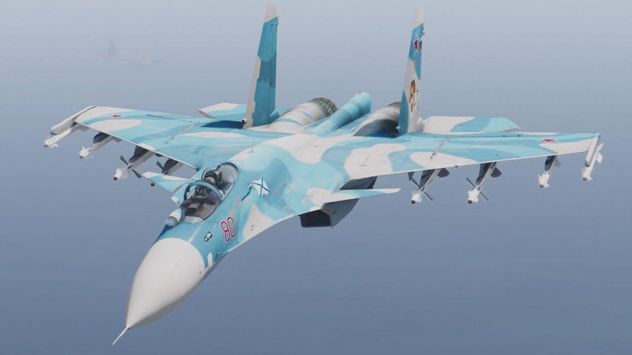 Loading su 33 flanker d carrier based fighter jet su 27 - Gta V Su 33 Flanker D Mod