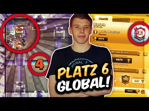 PLATZ 6 GLOBAL MIT NEUEM OP FRIEDHOF DECK! | Ladder pushen am Seasonanfang | Clash Royale Deutsch