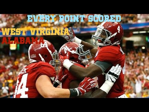EVERY POINT SCORED (Alabama vs. West Virginia 2014)