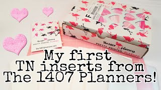 My first TN inserts order from The 1407 Planners   Planning With Eli