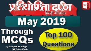 Download Pratiyogita Darpan Current Affairs May 2019 via 100 MCQs Mp3 and Videos