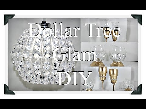 DIY Glam Crystal Chandelier|| Gold Candle Holders Centerpieces|| Tea Light holders||Three DIYS