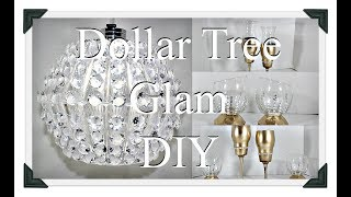 DIY Glam Crystal Chandelier|| Gold Candle Holders Centerpieces|| Tea Light holders||Three DIYS