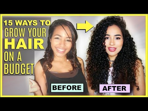 15 TIPS FOR HOW TO GROW LONG CURLY HAIR QUICKLY - ON A BUDGET!!