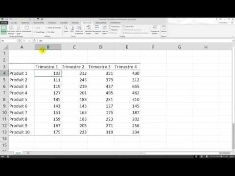 Excel : Figer ligne et colonne, en même temps ?