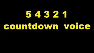 5 4 3 2 1 countdown   voice Sound Effect