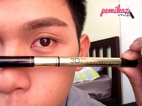 Review : Mistine 3D Eyebrowns Secret l PEMIKAZ