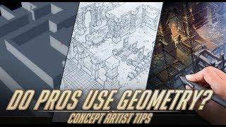 Do pro concept artists use geometry? - Concept artist tips.
