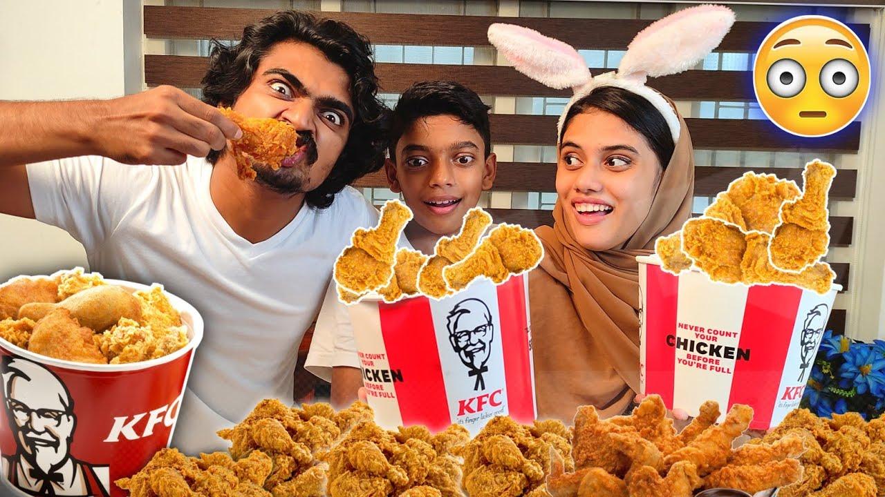 Download KFC EATING CHALLENGE 🤩😋 | KFC ചരിത്രം ഞങ്ങൽ വന്നപ്പോൾ വഴിമാറി 🤣🔥 | HIBA & FAZI