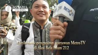 VIDEO Wartawan MetroTV Diusir Lagi di Aksi Bela Islam 212