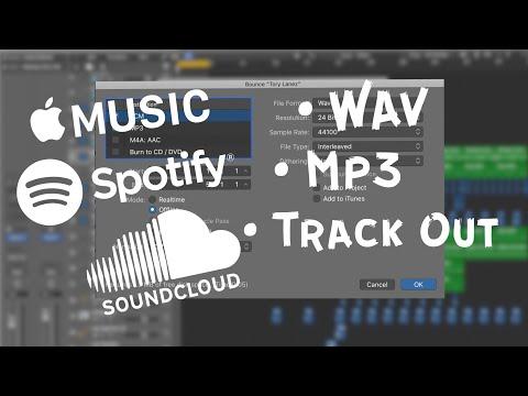 КАК ВЫВЕСТИ СВОЙ ПРОЕКТ В MP3/WAV/TRACK OUT в Logic Pro X