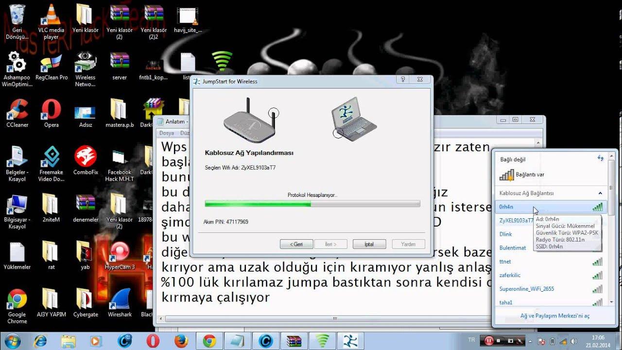 Windows Tabanlı Wps WİFİ Hack - YouTube