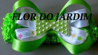 Laço de fita e lacinho de meia pérolas- satin ribbon, how to make laces