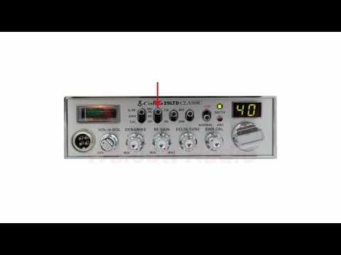 Cobra 29LTDClassic Controls and Settings