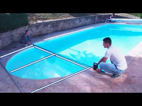 Mesure dimension b ches bulles piscine youtube for Fabrication enrouleur bache piscine