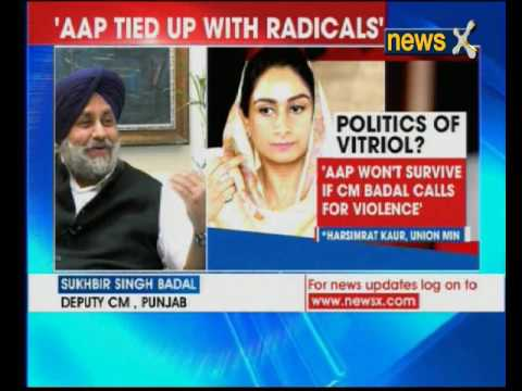 NewsX Exclusive: Sukhbir Badal attacks AAP for violence in Punjab
