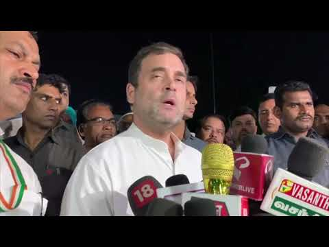 Shri Rahul Gandhi addresses the media on the crisis in Kashmir at AICC HQ