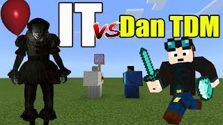 IT vs Dan TDM | Minecraft PE thumbnail